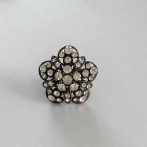Jewelry - Statement Ring with Rhinestones